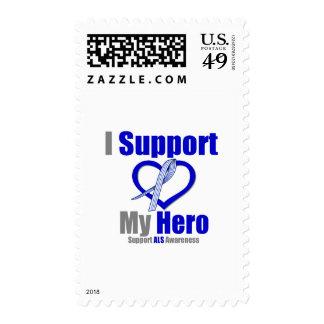 ALS Awareness I Support My Hero Postage