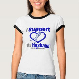 ALS Awareness I Support My Husband T-Shirt