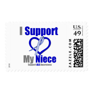 ALS Awareness I Support My Niece Stamp