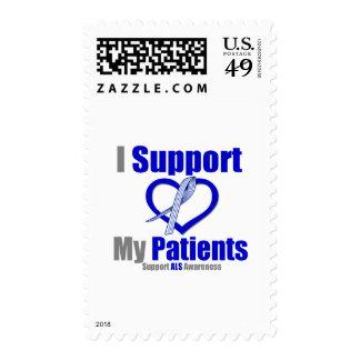 ALS Awareness I Support My Patients Postage Stamp