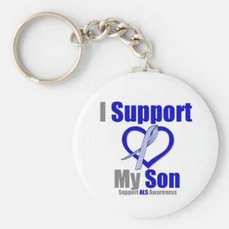 ALS Awareness I Support My Son Keychain
