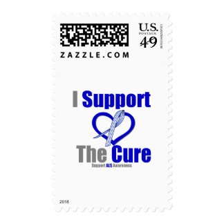 ALS Awareness I Support The Cure Stamp