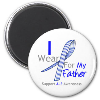 ALS Awareness I Wear ALS Ribbon For My Father 2 Inch Round Magnet