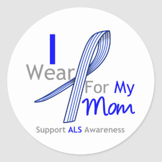 ALS Awareness I Wear ALS Ribbon For My Mom Classic Round Sticker