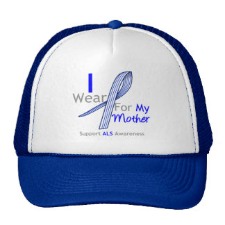 ALS Awareness I Wear ALS Ribbon For My Mother Trucker Hat