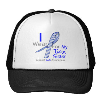 ALS Awareness I Wear ALS Ribbon For My Twin Sister Trucker Hat