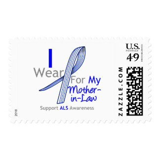 ALS Awareness I Wear ALS Ribbon Mother-in-Law Stamp