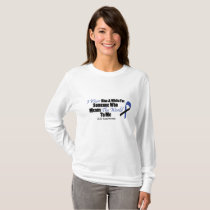 ALS Awareness I Wear Blue & White For Someone T-Shirt