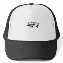ALS Awareness I Wear Blue & White For Someone Trucker Hat