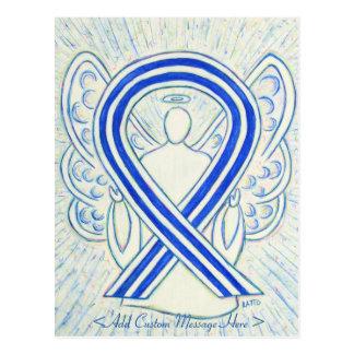 ALS Awareness Ribbon Angel Custom Art Postcard