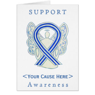 ALS Awareness Ribbon Angel Customized Card