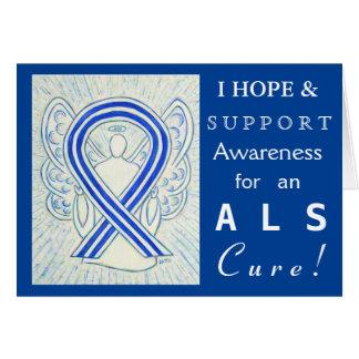 ALS Awareness Ribbon Angel Greeting Cards
