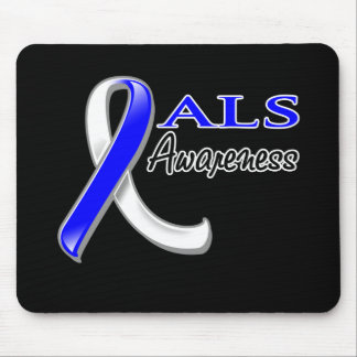 ALS Awareness Ribbon Mouse Pad