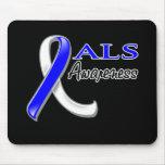 ALS Awareness Ribbon Mouse Pads