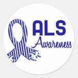ALS Awareness Round Sticker