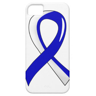 ALS Blue White Ribbon 3 iPhone 5 Cases