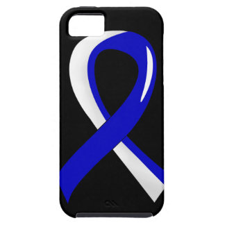ALS Blue White Ribbon 3 iPhone 5 Covers