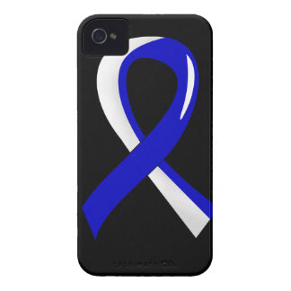 ALS Blue White Ribbon 3 iPhone 4 Covers