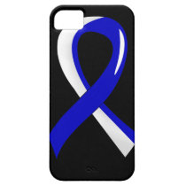 ALS Blue White Ribbon 3 iPhone SE/5/5s Case