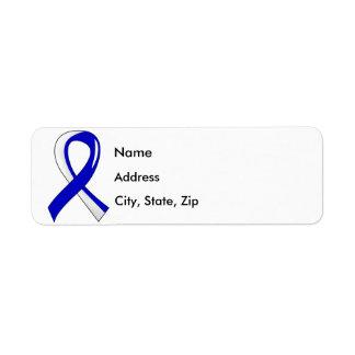 ALS Blue White Ribbon 3 Label