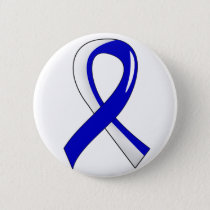 ALS Blue White Ribbon 3 Pinback Button