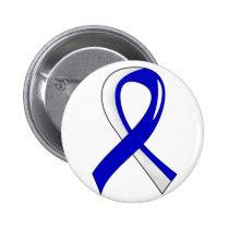 ALS Blue White Ribbon 3 Pinback Button