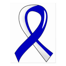 ALS Blue White Ribbon 3 Postcard