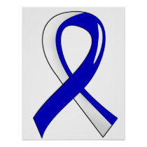 ALS Blue White Ribbon 3 Poster