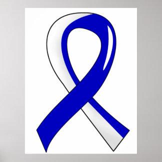 ALS Blue White Ribbon 3 Poster