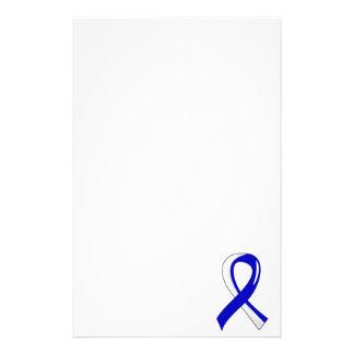 ALS Blue White Ribbon 3 Customized Stationery
