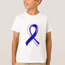 ALS Blue White Ribbon 3 T-Shirt