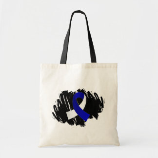 ALS Blue White Ribbon With Scribble Bag