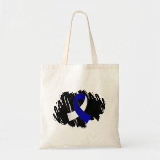 ALS Blue White Ribbon With Scribble Bags