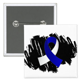 ALS Blue White Ribbon With Scribble Button