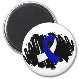 ALS Blue White Ribbon With Scribble Fridge Magnets