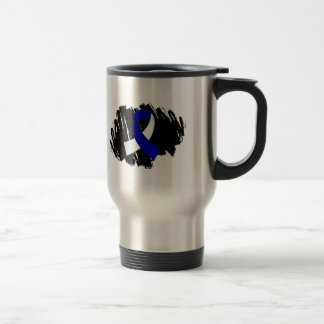 ALS Blue White Ribbon With Scribble Mug