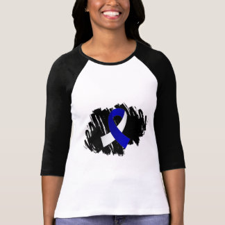 ALS Blue White Ribbon With Scribble Tees