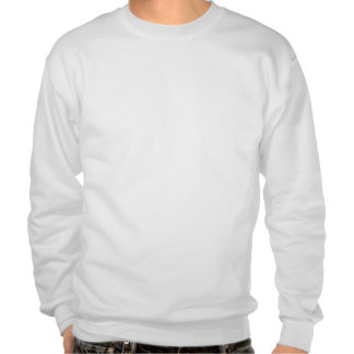 ALS Blue White Ribbon With Scribble Pull Over Sweatshirts