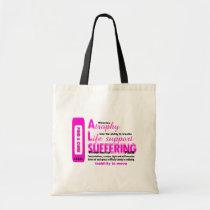 als, budget, tote, tote-bag, bag, purse, disease, hope, love, faith, Bag with custom graphic design