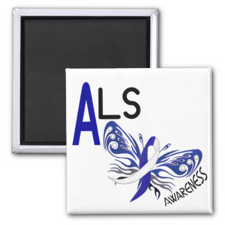 ALS BUTTERFLY 3.1 2 INCH SQUARE MAGNET