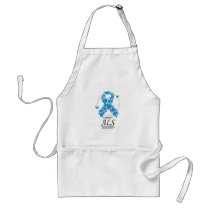 ALS Butterfly Ribbon Adult Apron