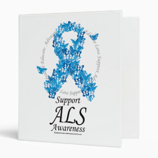ALS Butterfly Ribbon Binder