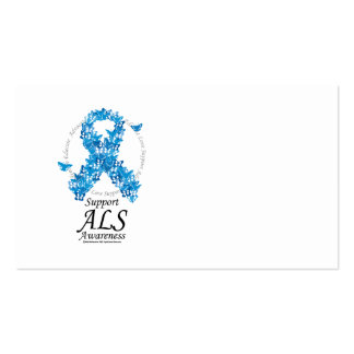 ALS Butterfly Ribbon Business Card