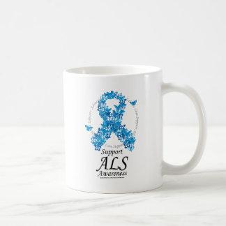 ALS Butterfly Ribbon Coffee Mug