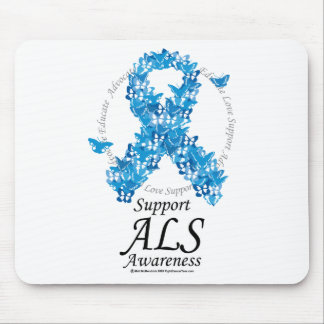 ALS Butterfly Ribbon Mouse Pad