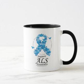 ALS Butterfly Ribbon Mug