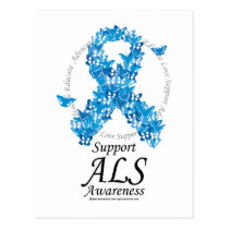 ALS Butterfly Ribbon Postcard