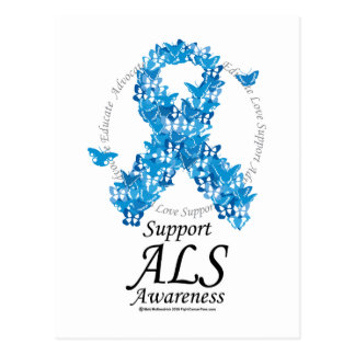 ALS Butterfly Ribbon Postcard