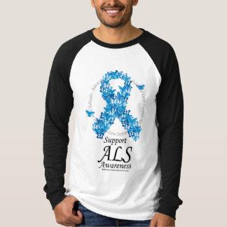 ALS Butterfly Ribbon Tee Shirt