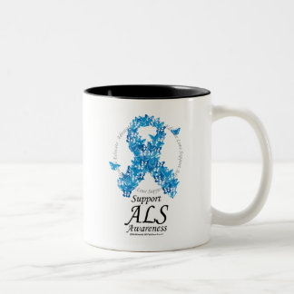 ALS Butterfly Ribbon Two-Tone Coffee Mug